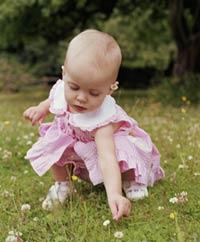 California Cryobank - Baby Girl Picking Flowers